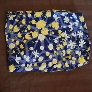 TC Lularoe leggings blue with yellow flowers